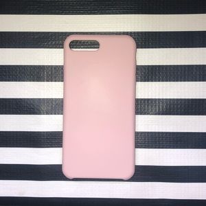 Pink Silicone iPhone 6/7/8 Plus Case